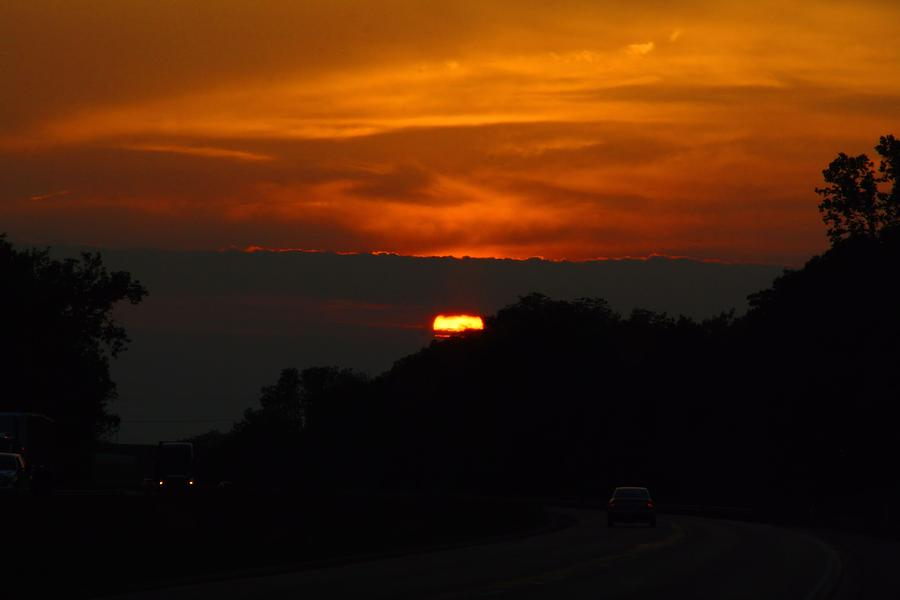 Sunset Photograph - Indianapolis Sunset by Kathryn Meyer