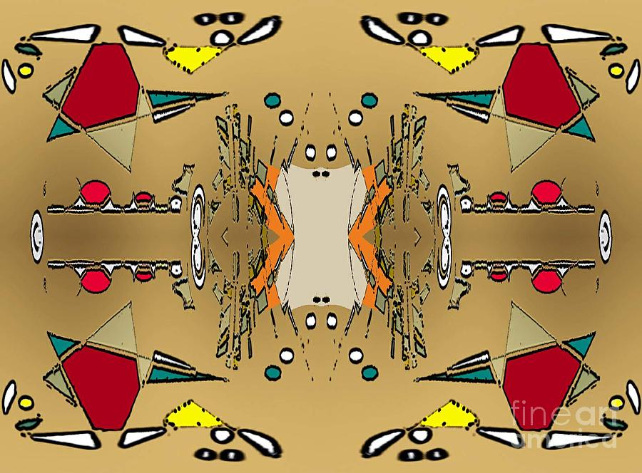 Abstract Digital Art - Indians Work by Aline Pottier  Gama Duarte
