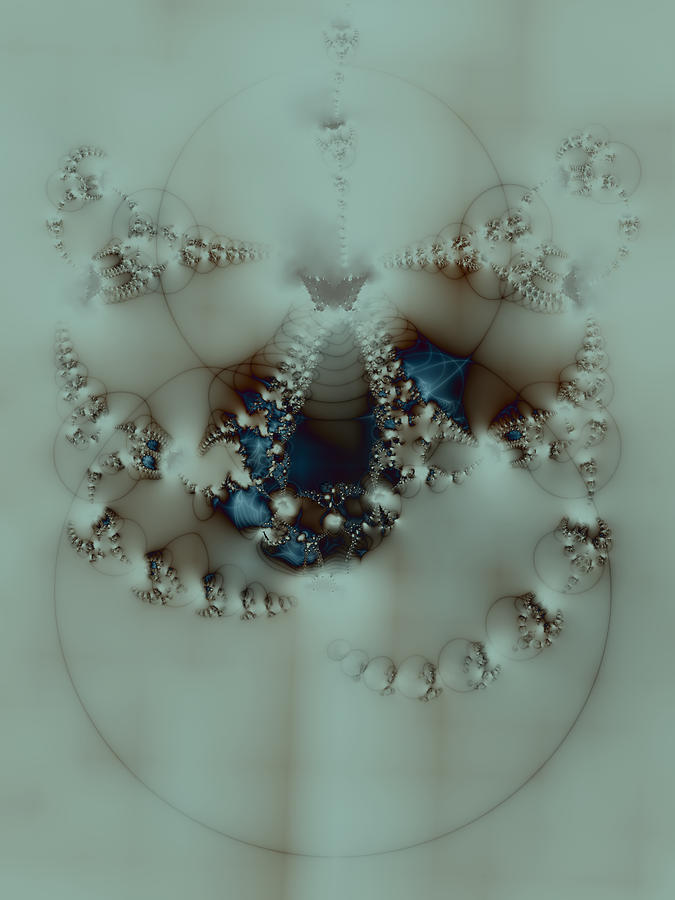 Fractal Digital Art - Indigati by Sacred Visions