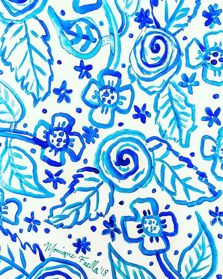 Indigo Blooms by Monique Faella