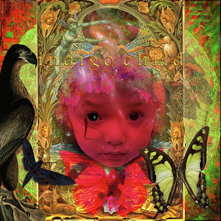 Pseudoscientific Digital Art - Indigo Child by Joseph Mosley