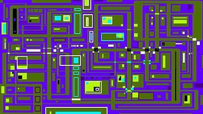 Digital Digital Art - Indigo Chip by Ian Mitchell