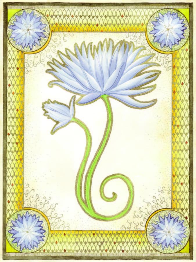 Indigo Painting - Indigo Lily by Erin M R Flores