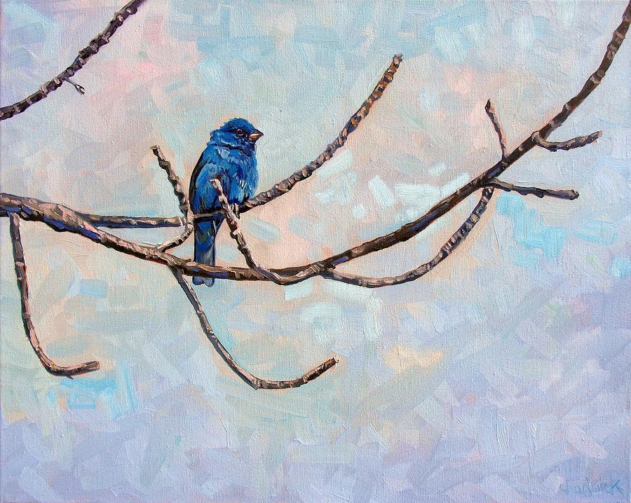 Indigo Painting - Indigo by Phil Chadwick