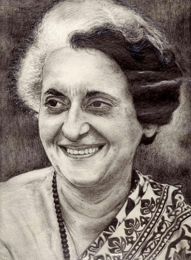 gandhi drawing by saptarshi ghosh indira gandhi drawing by saptarshi ghosh