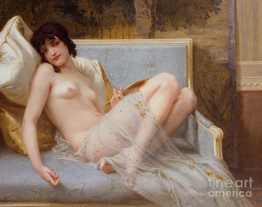 Indolence Painting - Indolence by Guillaume Seignac