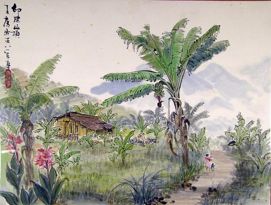 Landscape Painting - Indonesia Village by Ying Wong