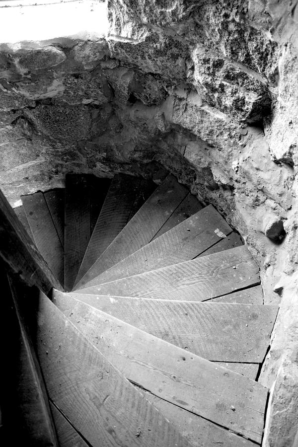 Stairs Photograph - Indoor Spiral by Greg Fortier