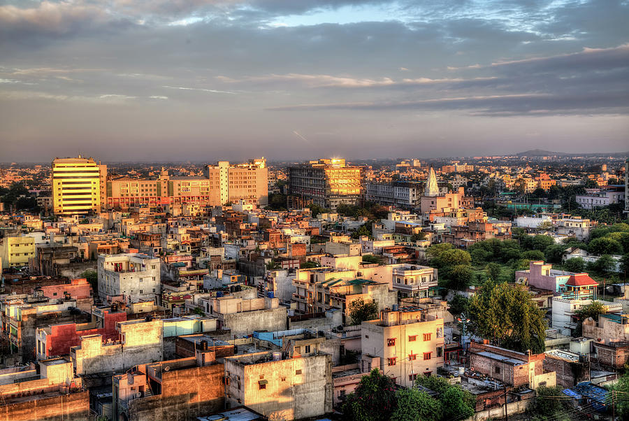 Asia Photograph - Indore Skyline by John Hoey