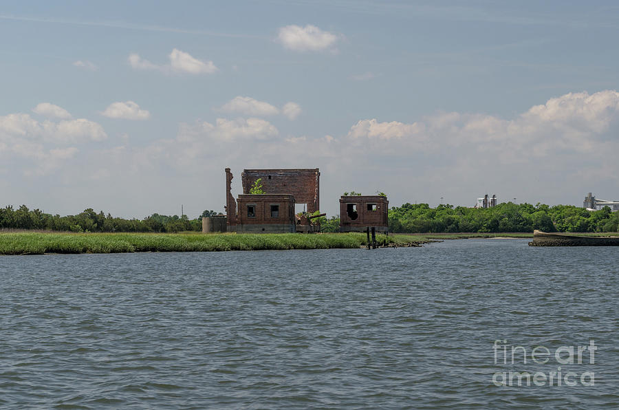 Coal Tipple Photograph - Industrial Banks Of The Charleston Harbor by Dale Powell