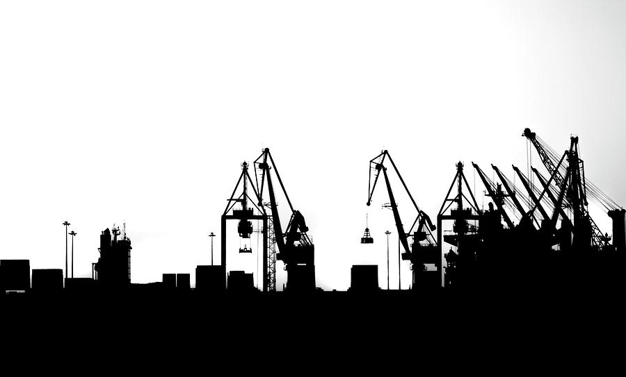 Industrial Photograph - Industrial Silhouette In Bw by Nikos Stavrakas