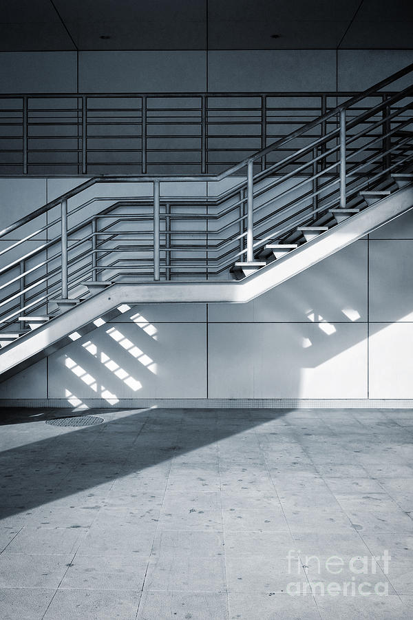 Stairway Photograph - Industrial Stairway by Carlos Caetano