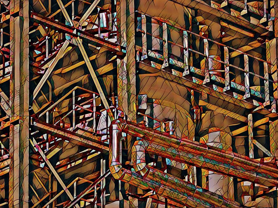 Arte Abstracto Photograph - Industrial Storage And Distribution System by Robert Kinser