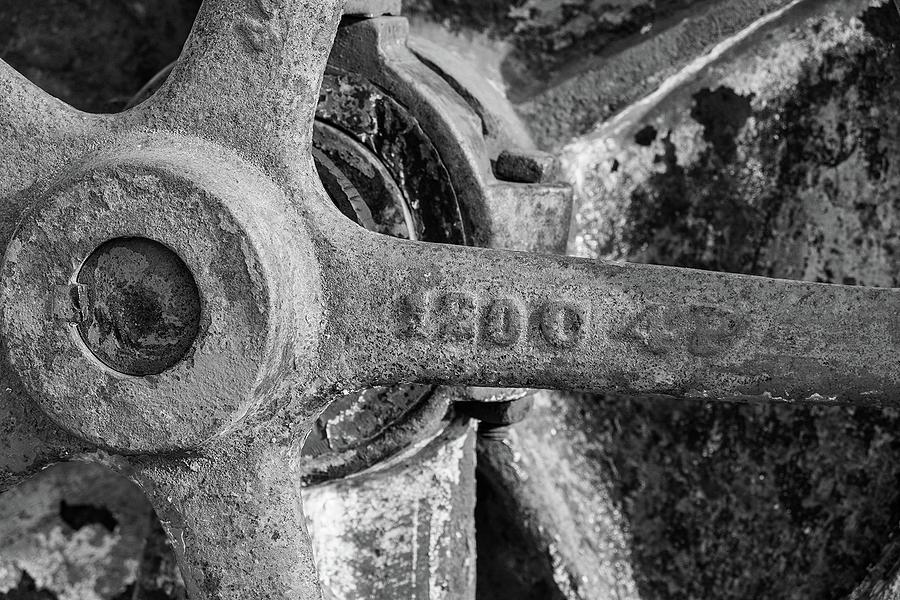 Industrial Wheel by Sandra Selle Rodriguez