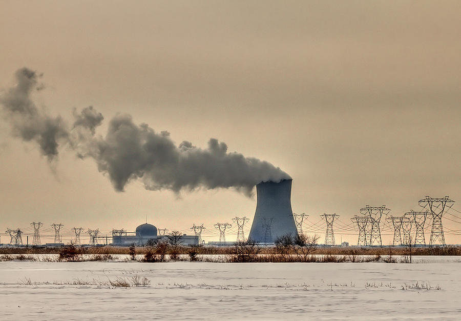 Clouds Photograph - Industrialscape by Evelina Kremsdorf