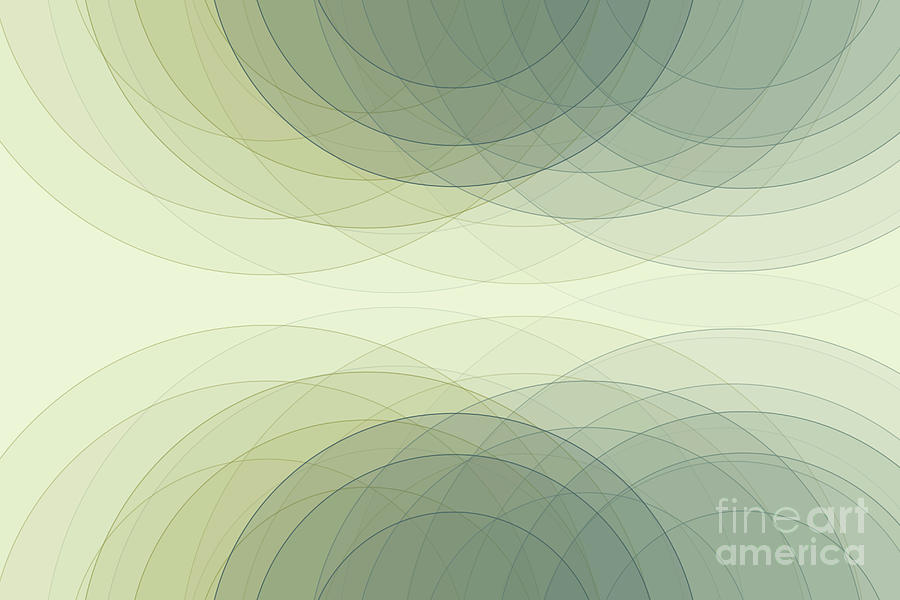 Abstract Digital Art - Industry Semi Circle Background Horizontal by Frank Ramspott