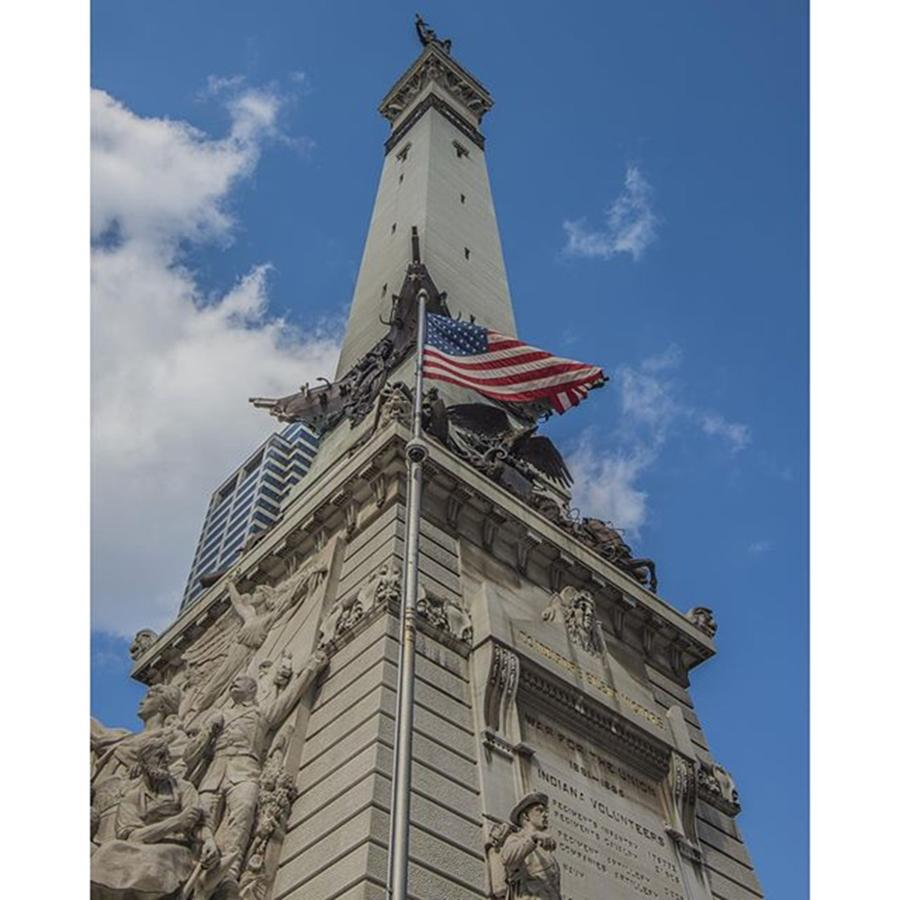 Indianapolis Photograph - #indy #americanflag #america #usa by David Haskett II