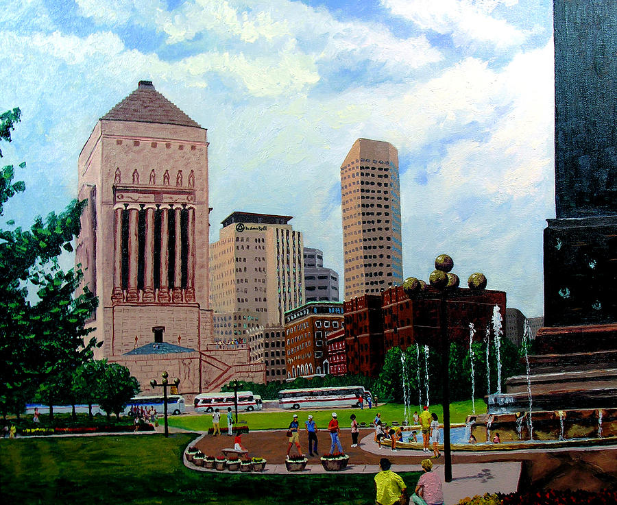 Indianapolis Painting - Indy Festival by Stan Hamilton