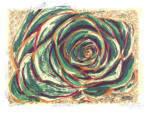 Serie Print - Infants Rose by Melba Martinez