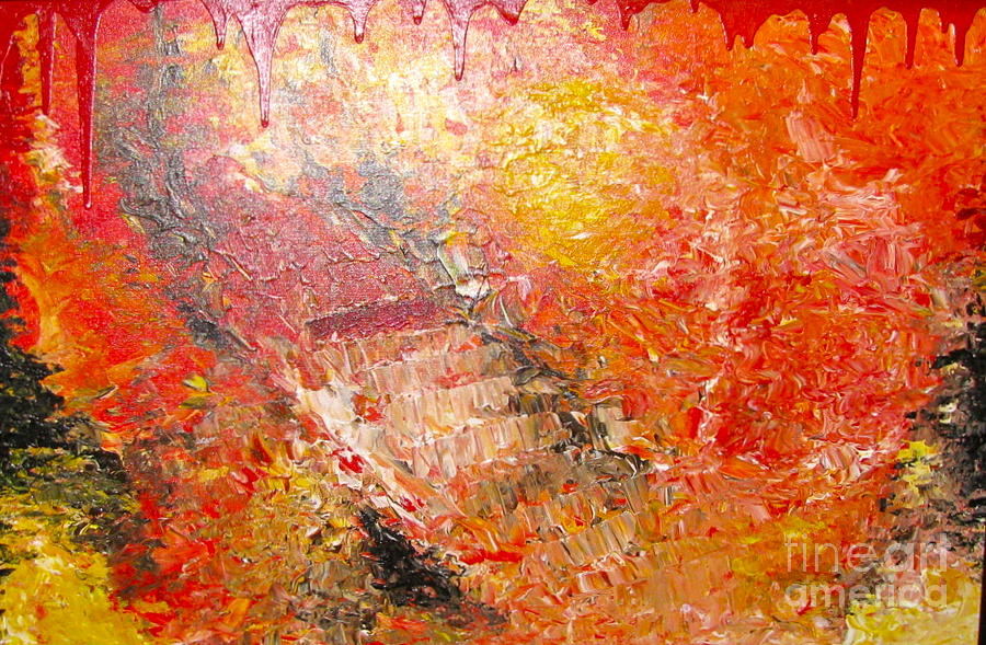 Red Painting - Inferno by Jacqueline Athmann