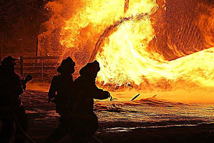 Inferno Photograph by John Ungureanu