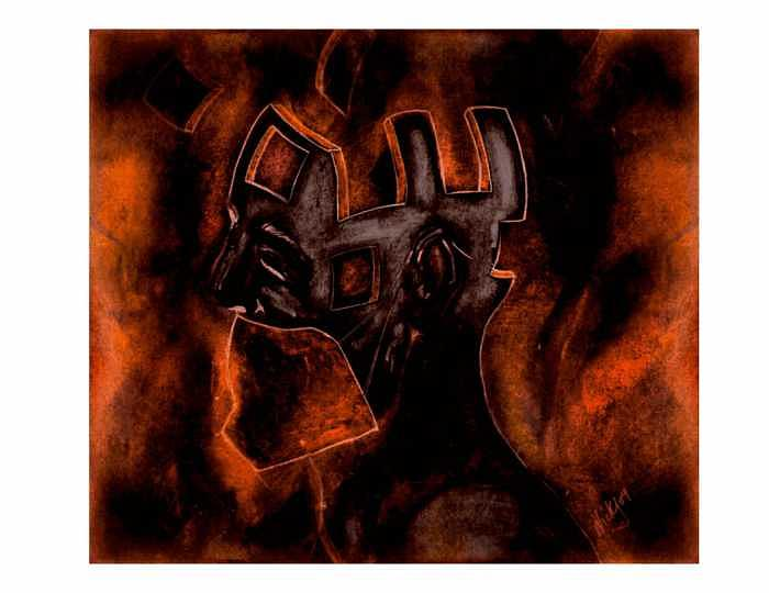 Inferno-the Fusion Painting by Nick Stevens