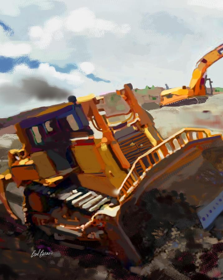 Bulldozers Painting - Infineon Raceway by Brad Burns