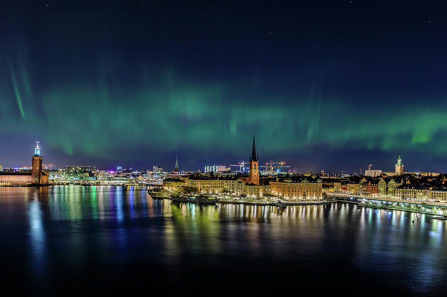 Aurora Borealis Photograph - Infinite Aurora Over Stockholm by Dejan Kostic