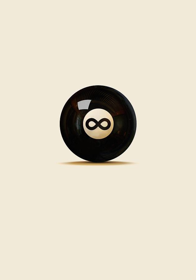 Snooker Digital Art - Infinity Ball by Nicholas Ely