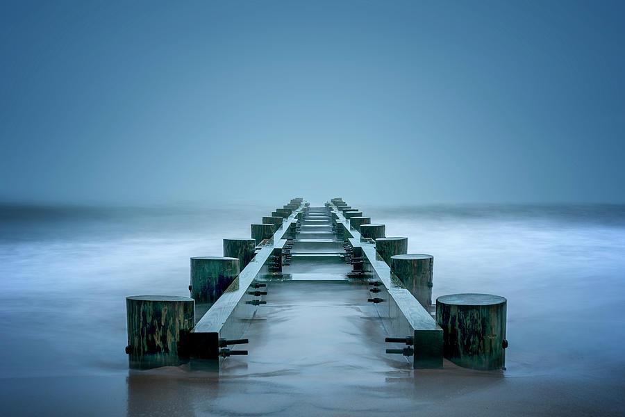Ocean Photograph - Infinity by Ryan Wyckoff