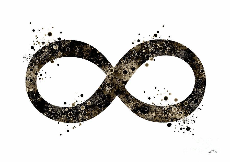 Infinity Symbol 2 Watercolor Art Print Digital Art By Svetla Tancheva