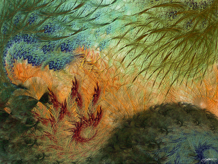Abstract Digital Art - Inflammation by Casey Kotas