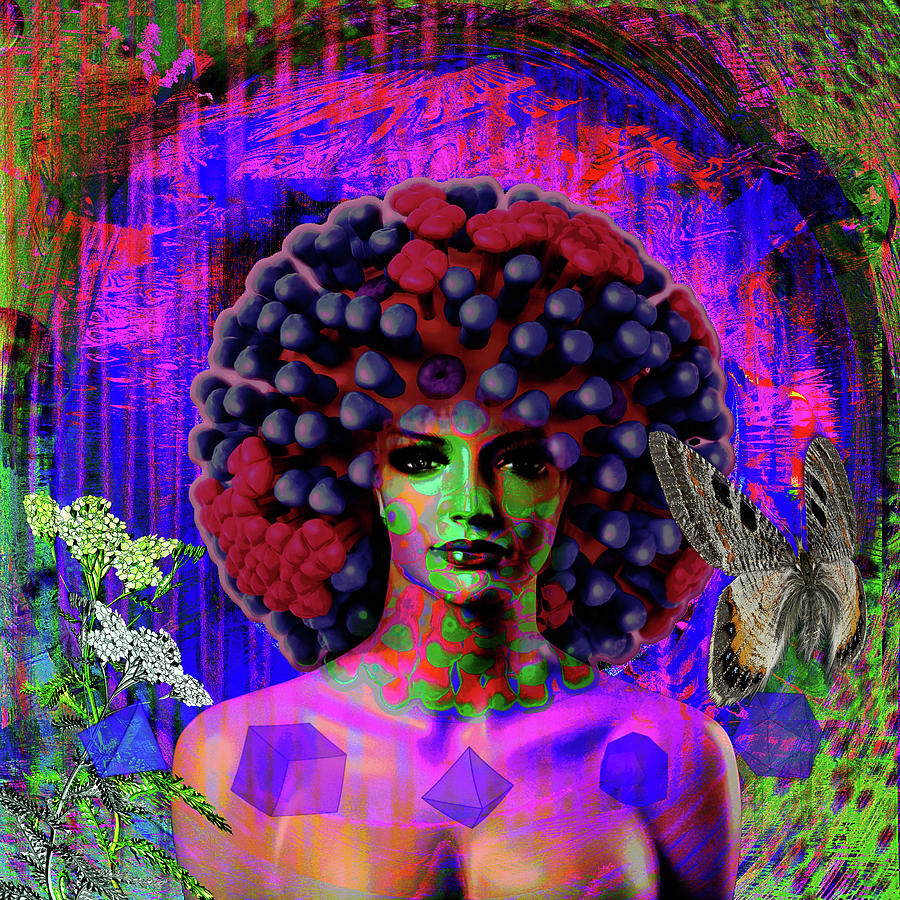 Internet Digital Art - Influenza She Has Gone Viral by Joseph Mosley