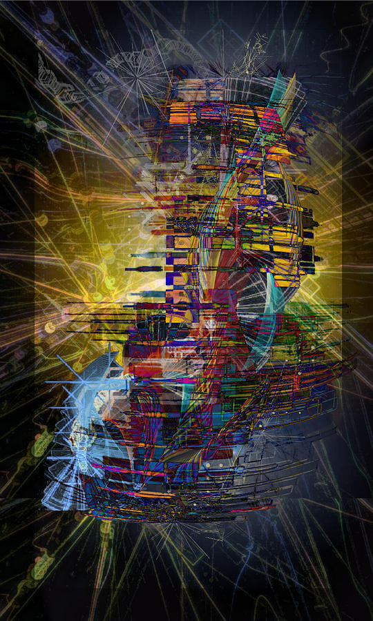 Abstract Digital Art - Infographics For Enlightenment In The New City by ReeNee  Cummins
