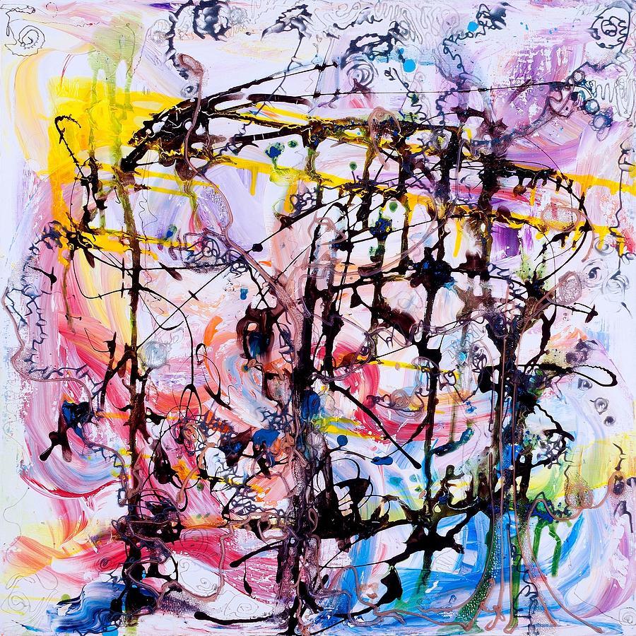Neural Network Painting - Information Network by Regina Valluzzi