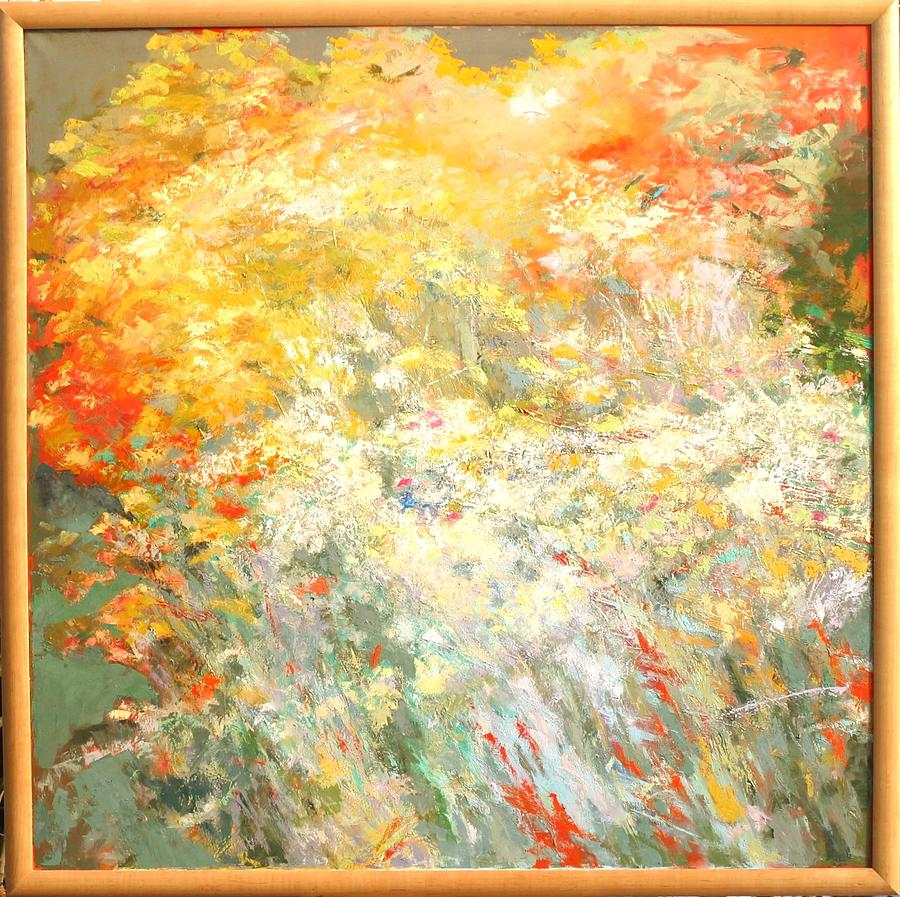 Landscape Painting - Informel by Krystyna Suchwallo