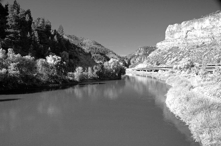 Infrared Black And White Photograph by James Steele