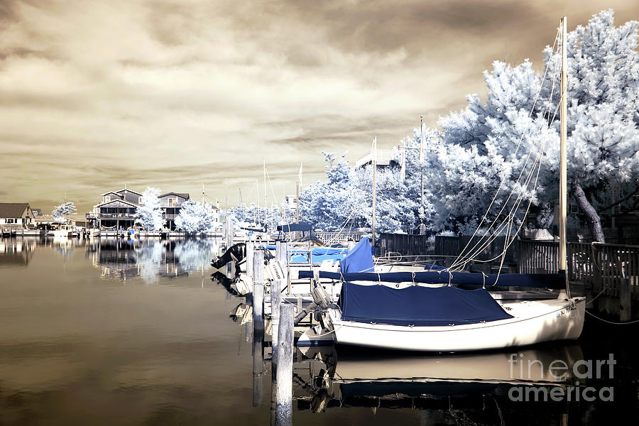 Boats Photograph - Infrared Boats At Lbi by John Rizzuto