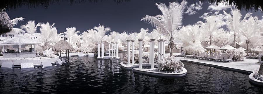 B&w Photograph - Infrared Pool by Adam Romanowicz