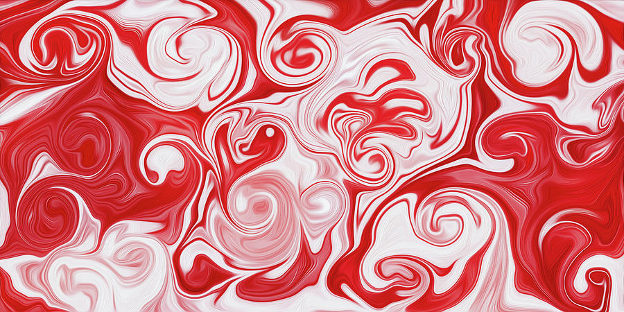 Red Digital Art - Infusion by Martin Hroch