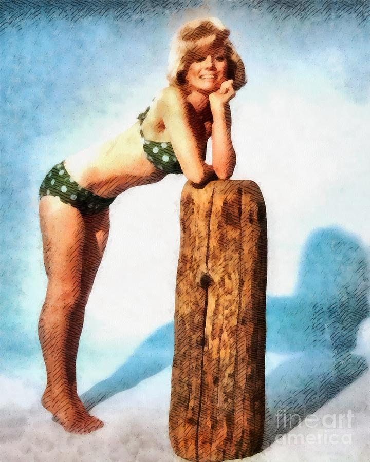 Inger Stevens, Vintage Actress Painting By John Springfield