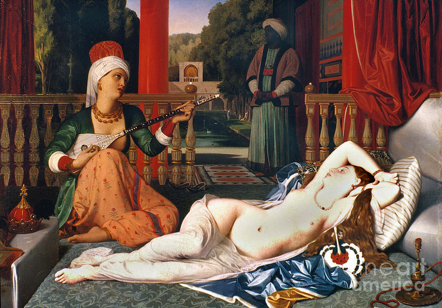1842 Painting - Ingres: Odalisque by Granger