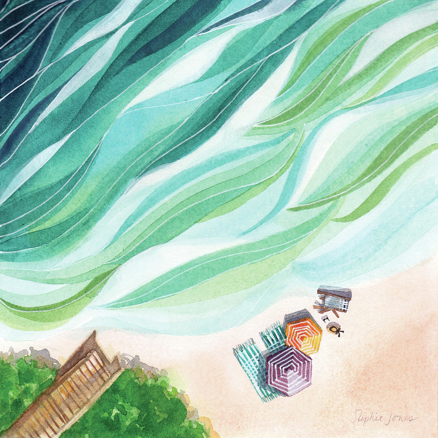 Waves Painting - Inhale, Exhale by Stephie Jones