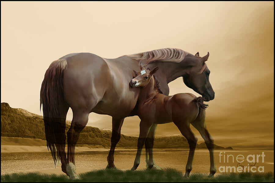 Horse Painting - Inherit The Wind by Corey Ford