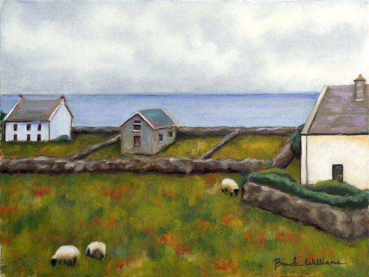 Oil Painting - Inishmore Island by Brenda Williams