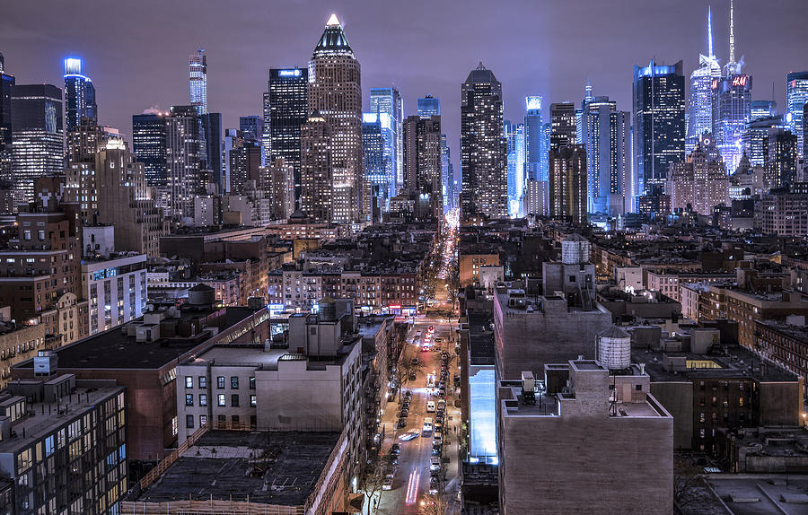 Cityscape Photograph - Ink 48 East by Michael Tischler