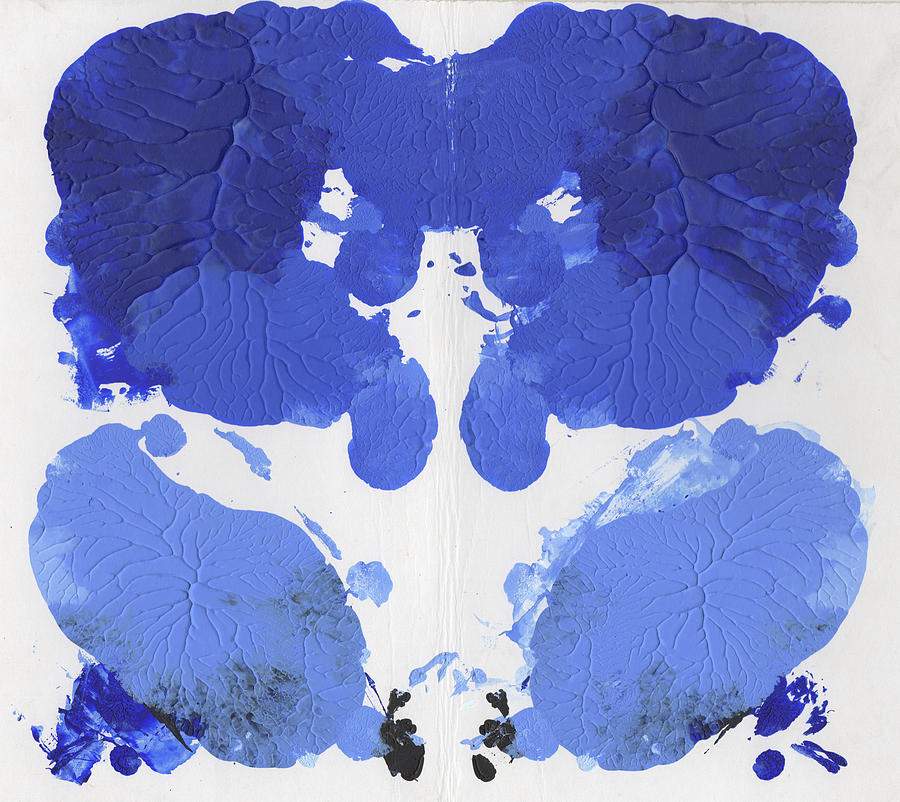 Ink Blot Blue by Erik Paul