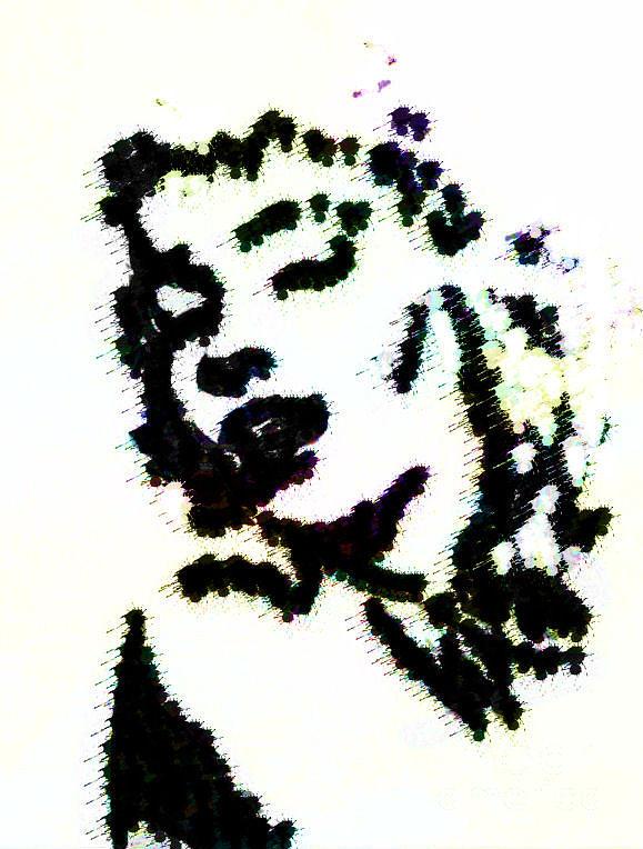 Inkblot Digital Art - Ink Blot Monroe by Arianna Trombley