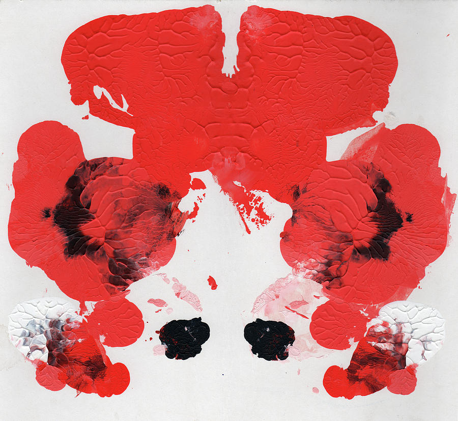 Ink Blot Red AKA Carrot Top by Erik Paul