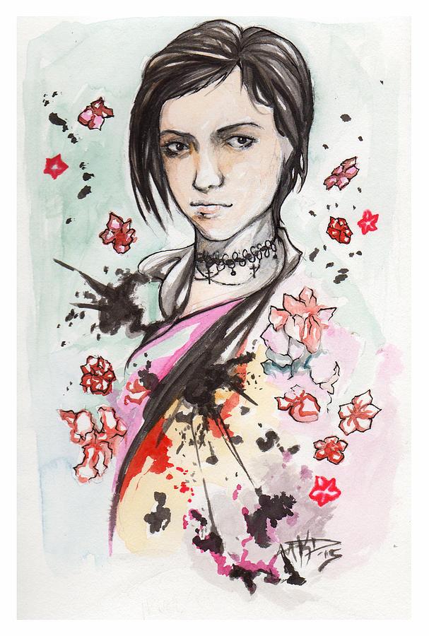 Portrait Painting - Ink Blots by Miguel Karlo Dominado